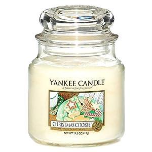 Yankee Candle Duftkerze im großen Jar, Christmas Cookie, Brenndauer bis zu 150Stunden