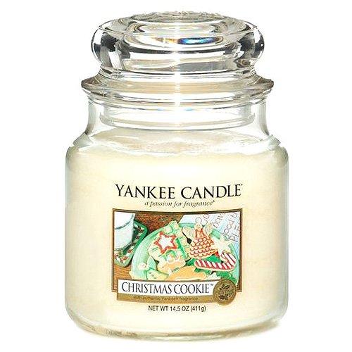 Yankee Candle Glaskerze, mittel, Christmas Cookie