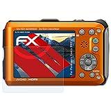 atFoliX Panzerfolie für Panasonic Lumix DMC-FT3 Folie - 3 x FX-Shock-Clear stoßabsorbierende ultraklare Displayschutzfolie