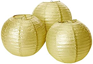 Amscan International-24056-19-5524cm farolillos de papel de oro