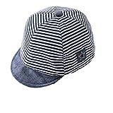 Unisex Baby Mode Sommer Streifen Baumwolle Sonnen Hut Baseballmütze Schirmmütze Kinder Hut, Mittel