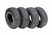 4x 4.00-5 (330x100) Black Diamond Tread Mobility Scooter Tyres