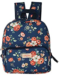 Shoppertize PU Leather 11 Liters Navy Blue School Backpack