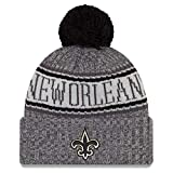 New Era New Orleans Saints Beanie NFL 2018 Sideline Sport Graphite Knit Black/Grey - One-Size