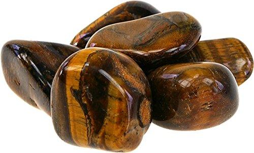 ILHORIN ESOTERISME Lot de 150 pierres roulées ou polies oeil de tigre