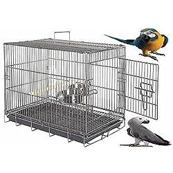 Portaequipajes aves (tamaño grande, 77 x 51 x 57 cm), color gris