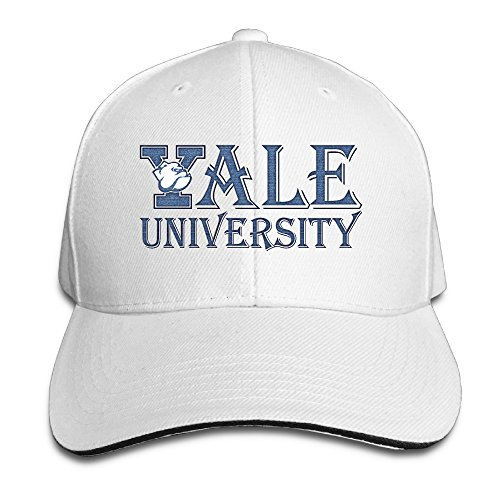 hittings Unisex Yale University Handsome Dan Distressed Golf Cap Red White - White Golf Cap