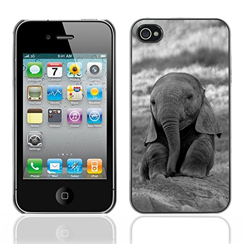 Graphic4You Elefant Tier Drawing Painting Design Harte Hülle Case Tasche Schutzhülle für Apple iPhone 4 und 4S Design #3