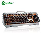 Swiftswan PK810 Membran Gaming Tastatur Hintergrundbeleuchtung 104 Tasten Wired Tastatur für Gamer