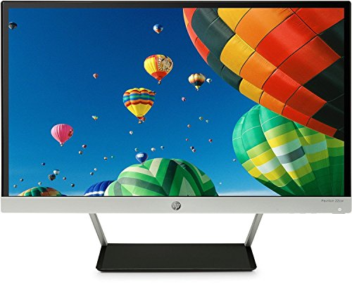 HP Pavilion 22cw 21.5-inch IPS LED Monitor Natural Silver (Bezel),Black (Rear cover) - PC flat panels