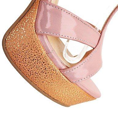 LvYuan Damen-Sandalen-Outddor Büro Lässig-PU-Blockabsatz-Andere-Blau Rosa Weiß Pink