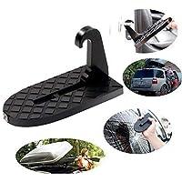 Pedal plegable con gancho para vehículo, escalera plegable para el techo del coche con martillo de seguridad para Jeep Car SUV, escalera para el techo del ...