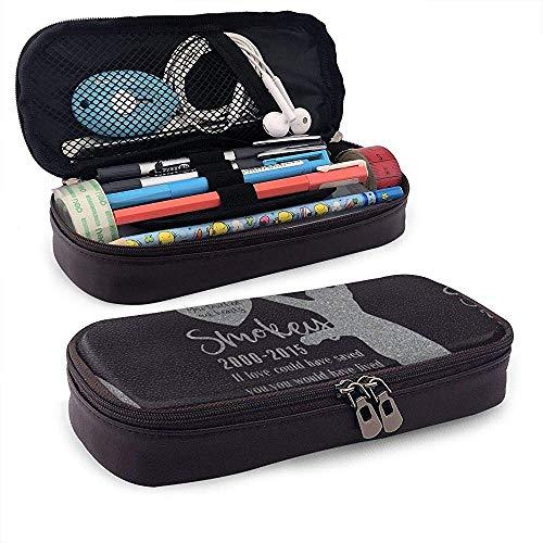 Personalisierte Memorial Pet Stone Leder niedlichen Bleistift Fall - Bleistiftbeutel Briefpapier Organizer Kosmetik Make-up Tasche -