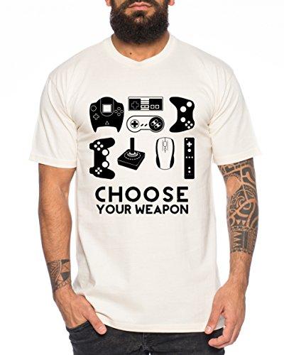 erren T-Shirt Gamer Play Sport Station Controller ps Game, Farbe:Natur;Größe:S ()