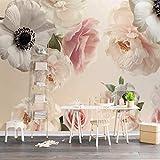 Zybnb Photo 3D Papier Peint Romantique Belle Floral Fleurs Murale Chambre Mariage Chambre Tv Toile De Fond Murales Murales Papier Peint Rouleau 3D
