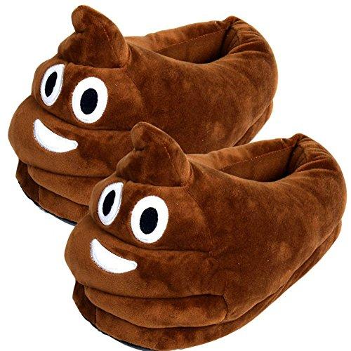 """emoji pantofole caldo inverno peluche carino cartone morbido """"unisex pantofole indoor a casa by Dream's Story (Poo)"""