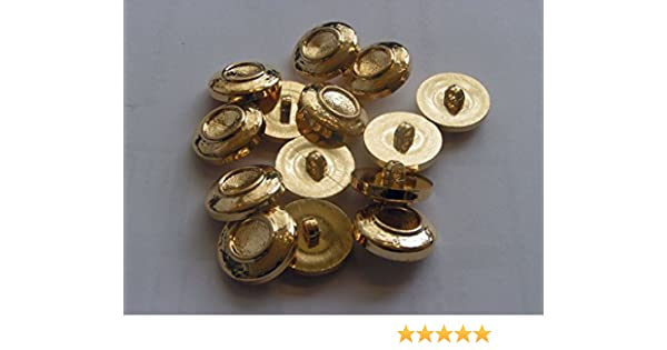 20 LARGE GOLD COLOURED PLASTIC BUTTONS BLAZER COAT JACKET