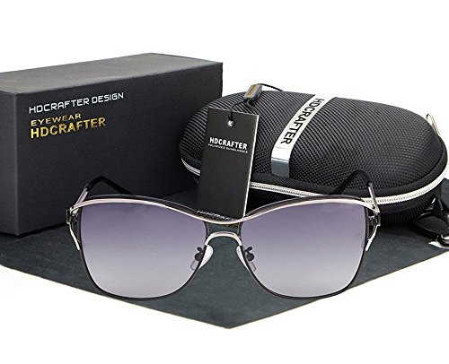 La donna, occhiali da sole, casual, moda, all'aperto, nero, E00204