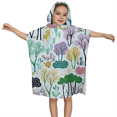 Cute Hooded Bath Beach Towel Cheetahs Pale Ultra Soft Quick Drying Super Soft Single Ply 100% Organic Cotton ()