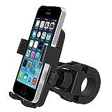 Handyhalterung Fahrrad Smartphone Fahrradhalterung Handyhalterung Fahrrad Rutschfest Universal für Handys von 3,5-5,3 Zoll iPhone 4/ 4S/ 5s/ 6/ 6S/ 7/ 8/ X Samsung Galaxy S3/ S4/ S5/ S6/ S7/ GPS von Demarkt