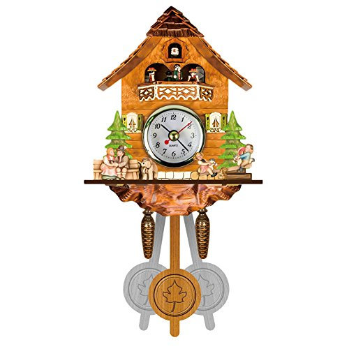 Reloj de cuco de estilo de selva negra de Alemania. balancín oscilante automático. Agujero para colgar. Especificaciones: Tipo: reloj de pared cuco Material: MDF madera Color: Multicolor. Alimentado por: 1X pilas AA (no incluidas) Tamaño del reloj: ...