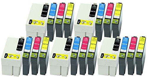 Preisvergleich Produktbild 20 Druckerpatronen XL alle Farben ersetzen Epson T2711 T2712 T2713 T2714 geeignet z.B. für Epson WorkForce WF-3620, WF-3620DWF, WF-3640, WF-3640DTWF, WF-7110, WF-7110 DTW, WF-7610, WF-7610DWF, WF-7620, WF-7620DTWF
