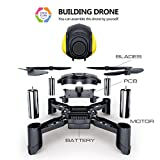 Maxxrace Rc toys DIY Mini Racing Drone Headless Mode 2.4Ghz Nano LED RC Quadcopter Altitude Hold Good for beginners- Black Remote control drone and Building toys