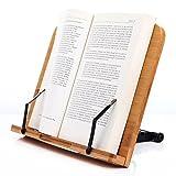 LH246 Leseständer Buchhalter aus Natur Bamboo, Große Ausführung