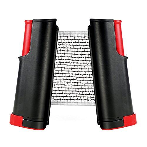 RUNACC Versenkbare Tisch Tennis Net Tragbar Ping Pong Zubehör Net, Perfekt für Tisch Tennis