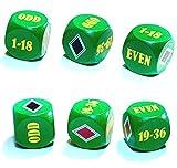 Roulette Würfel - Spielewürfel fürs Online Casino - Holzwürfel mit Zahlen und Symbolen bedruckt die man beim Roulette als sogenannte