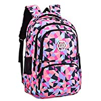 SellerFun Girl Flower Printed Primary Junior High University School Bag Bookbag Backpack