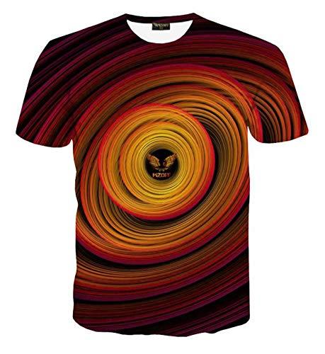 Pizoff Unisex Sternenhimmel Print T-Shirt - Kurzarm mit Galaxy 3D Druck AL067-48-M