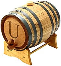 Cathy's Concepts Personalized Original Bluegrass Barrel, Large, Letter U