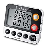 Digital Timer CEEBON 100 Hour Dual Count Down and Count up Timer Kitchen