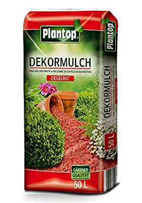 Dekormulch Ziegelrot 50L Körnung 10-40mm Rindenmulch von Plantop bei Du und dein Garten