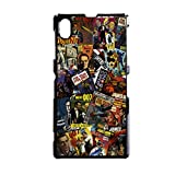 James Bond 007 Retro Comics Sony Xperia Z1 Handy Case Cover schwarz Schutzhülle