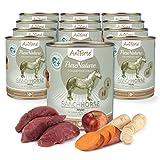AniForte ® PureNature Ranch Horse - Pferd mit Süßkartoffeln & Äpfeln 12x800g Nass-Futter, Getreidefrei, Naturprodukt für Hunde