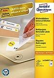 AVERY Zweckform L4736REV-100 Universal-Etiketten (A4, 4,800 Etiketten ablösbar, 45,7 x 21,2 mm, 100 Blatt) weiß
