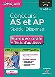 Concours AS et AP, spécial dispense : Epreuve orale et tests d'aptitude concours 2016