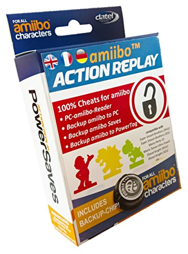 Action Replay PowerSaves amiibo, Cheat- & Boost-Portal with Backup Chip (Nintendo 3DS XL/3DS e 2DS)