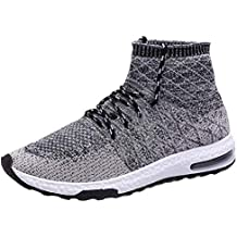 ZAPATILLAS EL GANSO LOW TOP LEATH BLANCA. QUICKLYLY Zapatillas Deporte Hombres,Calzado Running/Correr Adulto,Zapatos Gimnasio Sneakers Entrenamiento Aire