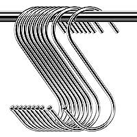 30 Paquete Ganchos en Forma de S , S Ganchos Cocina Metal Acero Inoxidable ganchos para el gabinete de la Cocina Oficina del Dormitorio del baño