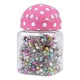 500 Pz/Bottiglia Perni Dritti, Perline Aghi Perno Quilting in Tessuto Rosa Coperta Pin Cuscino Bottiglia Cucito Craft Decor Accessori Per il Cucito