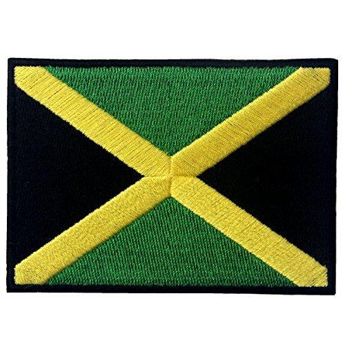 Jamaika Flagge bestickt Emblem Rasta Jamaika Rastafari National Eisen auf Sew auf Patch