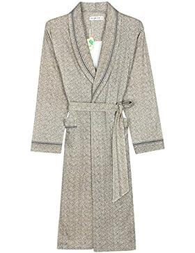 Albornoz de hombre Pijama de algodón caliente/Elegante textura Vestido de noche/Primavera y otoño Ropa de casa...