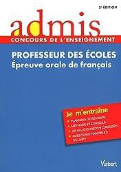 CRPE Epreuve orale de français - Oral - Admis - je m'entraine