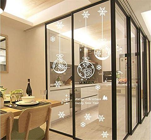 ufengke Joyeux Noël Bonne Année Boule de Noël Blanc et