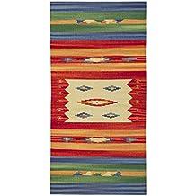 Jute & Co Kilim - Alfombra de algodón tejida a mano (60 x 120 cm), multicolor
