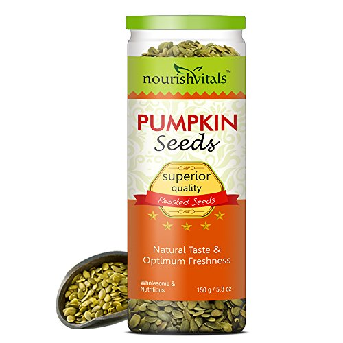 Nourish Vitals Roasted Pumpkin Seeds (superior Quality) - 150 Gm