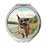 Yanteng Spiegel, Reise-Spiegel, Shih Tzu Hund Vodafone Hund, Taschenspiegel, 1 X 2 X Vergrößerung